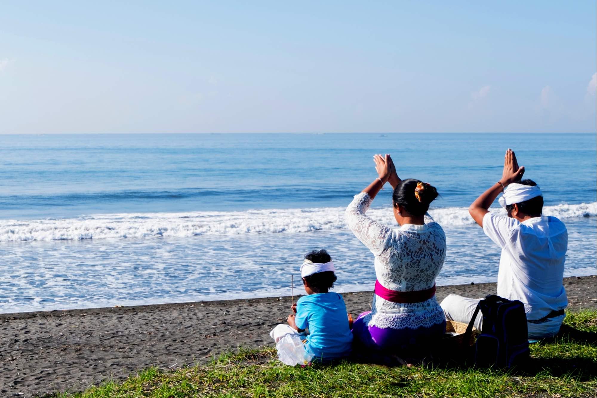 bali melasti beach ceremony